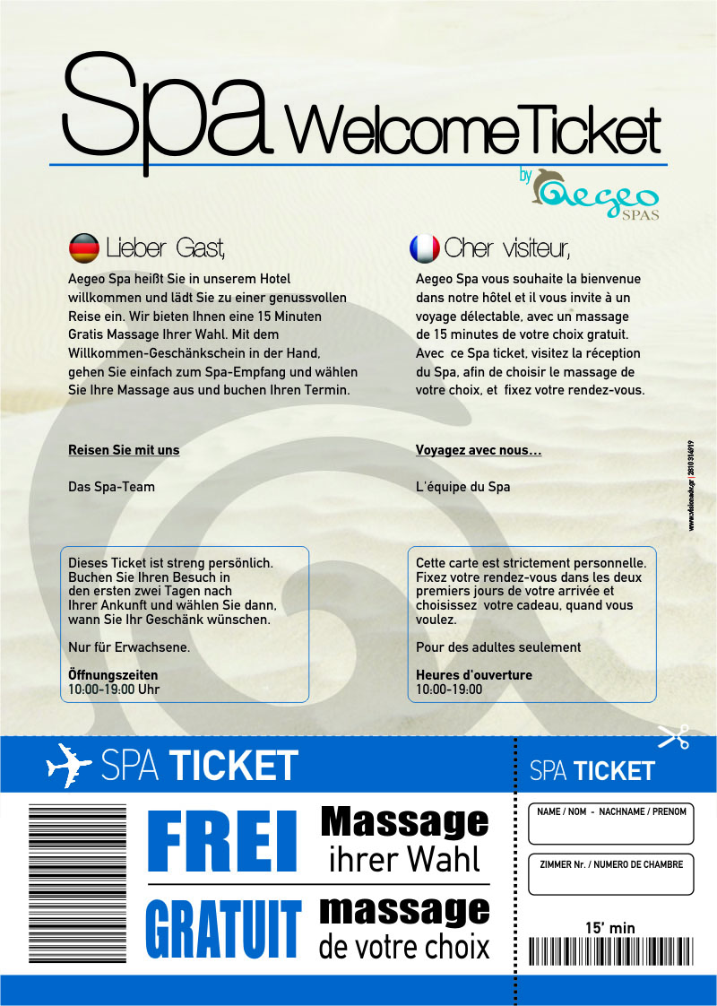 Spa Welcome Ticket DE